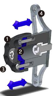 GILLES TOOLING ギルズツーリング IPパッド(フレームスライダー) YZF-R1