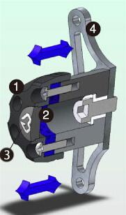 GILLES TOOLING ギルズツーリング IPパッド(フレームスライダー) Z750 Z1000 (水冷)