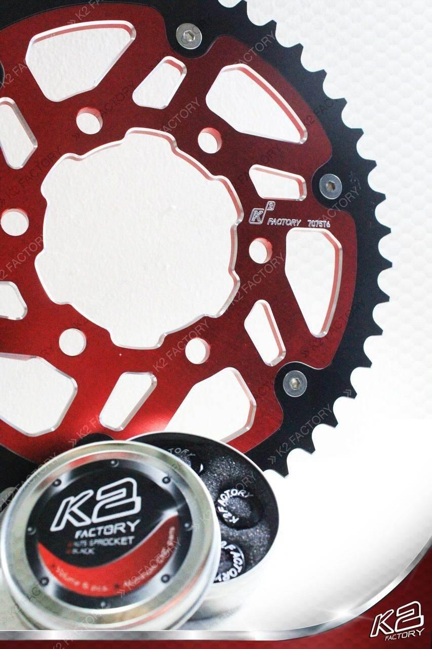 K2 Factory Brandケーツーファクトリーブランド スプロケット  SPROCKET FOR ER6N K2 Factory Brand ケーツーファクトリーブランド SPROCKET FOR ER6N 丁数:42T / カラー:Red ER6N KAWASAKI カワサキ