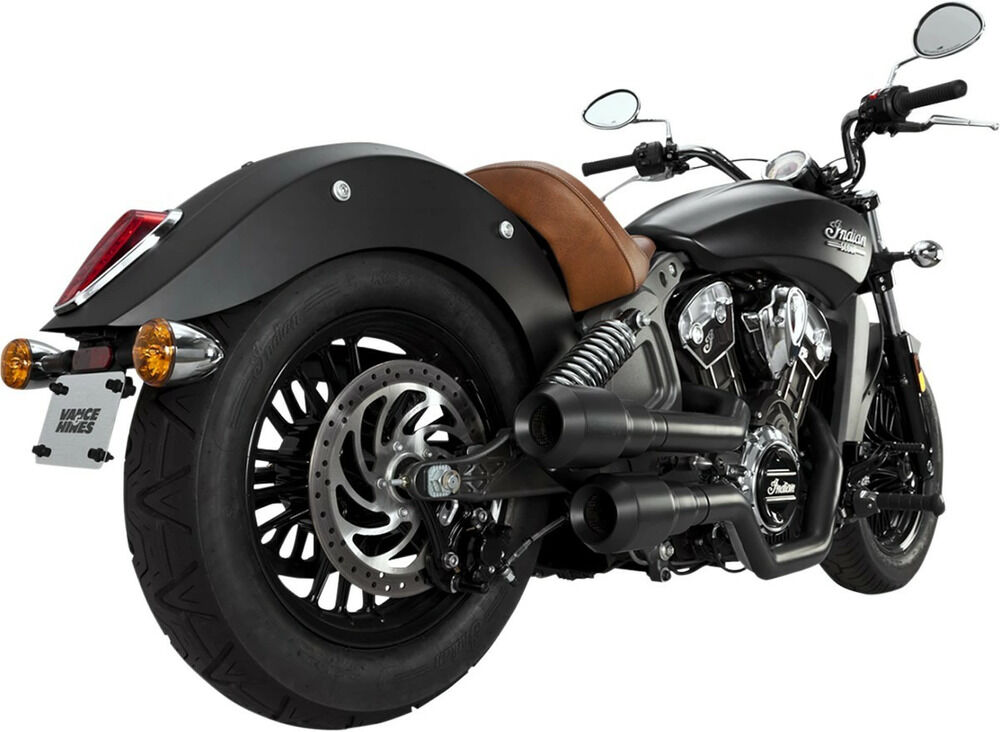 VANCE&HINES バンス&ハインズ フルエキゾーストマフラー GRENADEモデル ブラック SCOUT用【EXHAUST GREN BLK】 Scout Scout