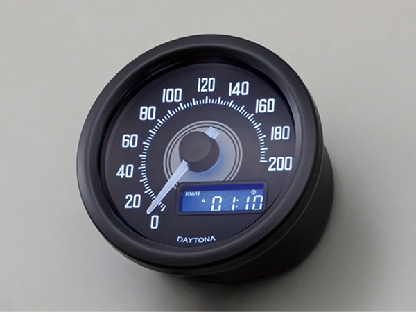 DAYTONA デイトナ VELONA スピードメーター 200km/h表示 ブラックボディ/ホワイトLED