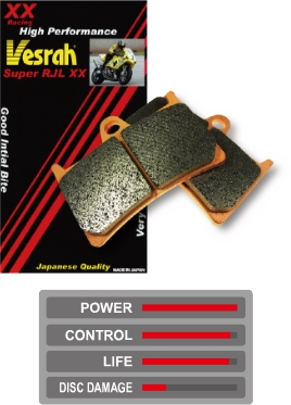 Vesrah ベスラ レーシングメタルパッド シンタードブレーキパッド CBR1000RA Fireblade ABS CBR1000RAA CBR1000RR CBR1000RRA CBR600RA CBR600RAA CBR600RR CBR600RRA