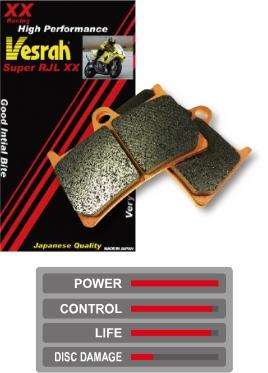 Vesrah ベスラ ブレーキパッド・シュー レーシングメタルパッド シンタードブレーキパッド 1125CR 1125R Lightning B12SCG Firebolt XB12R XB12SS