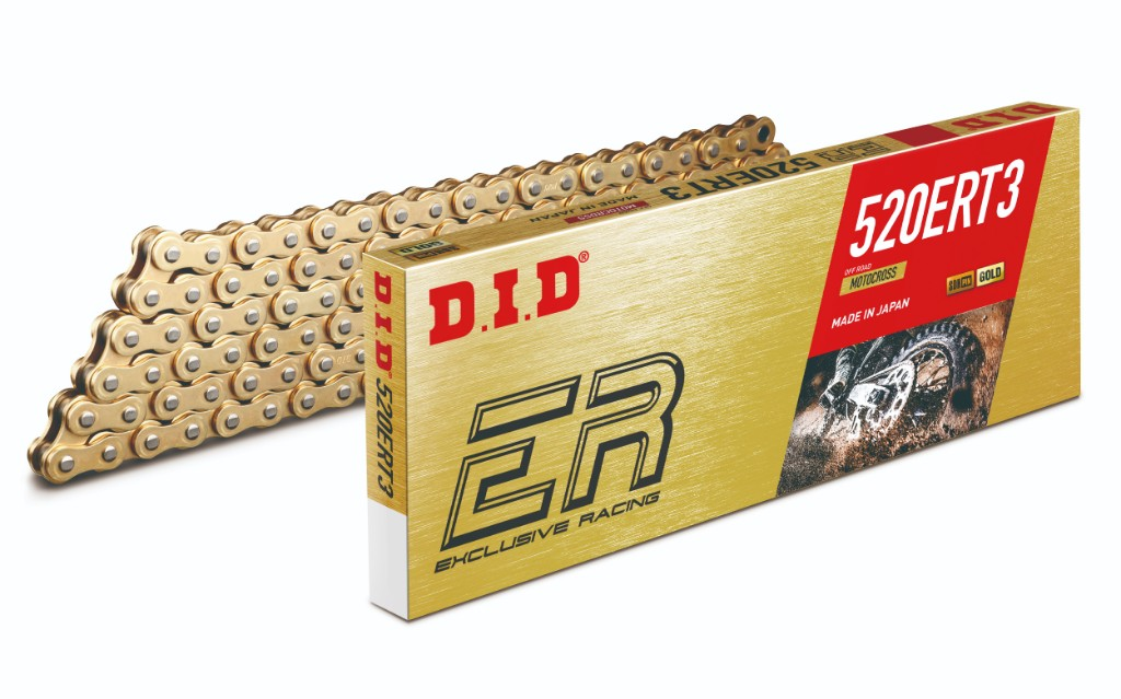 DID ダイドー ERシリーズチェーン 520ERT3 ゴールド (モトクロス競技向け)