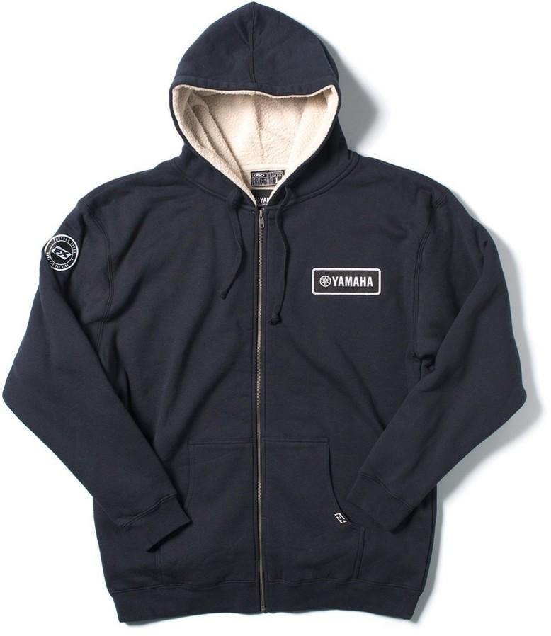 US YAMAHA 北米ヤマハ純正アクセサリー Yamaha Sherpa Zip-up Hooded Sweatshirt by Factory Effex