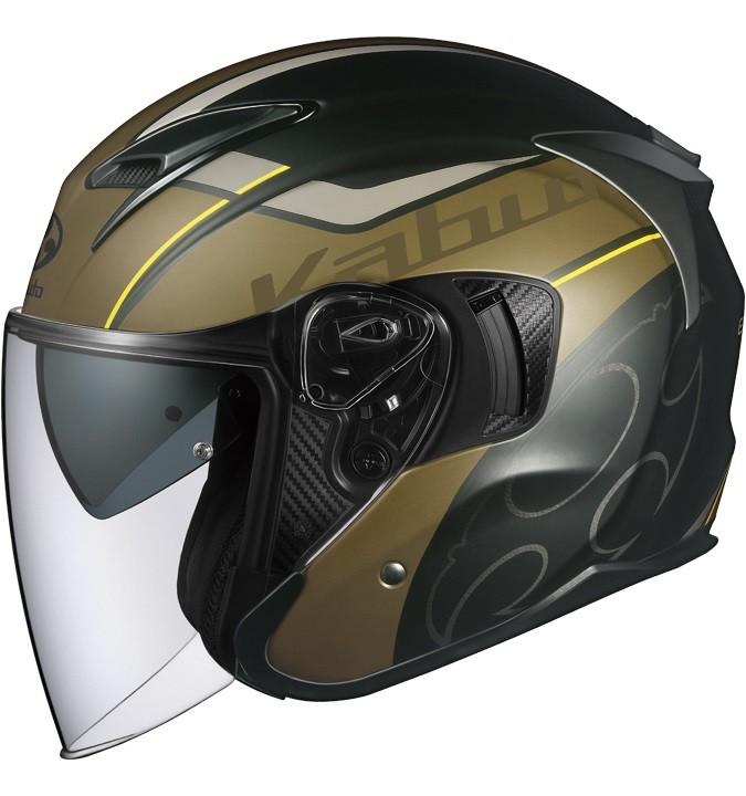 OGK KABUTO オージーケーカブト EXCEED GLIDE [エクシード・グライド フラット ブラック カーキ] ヘルメット