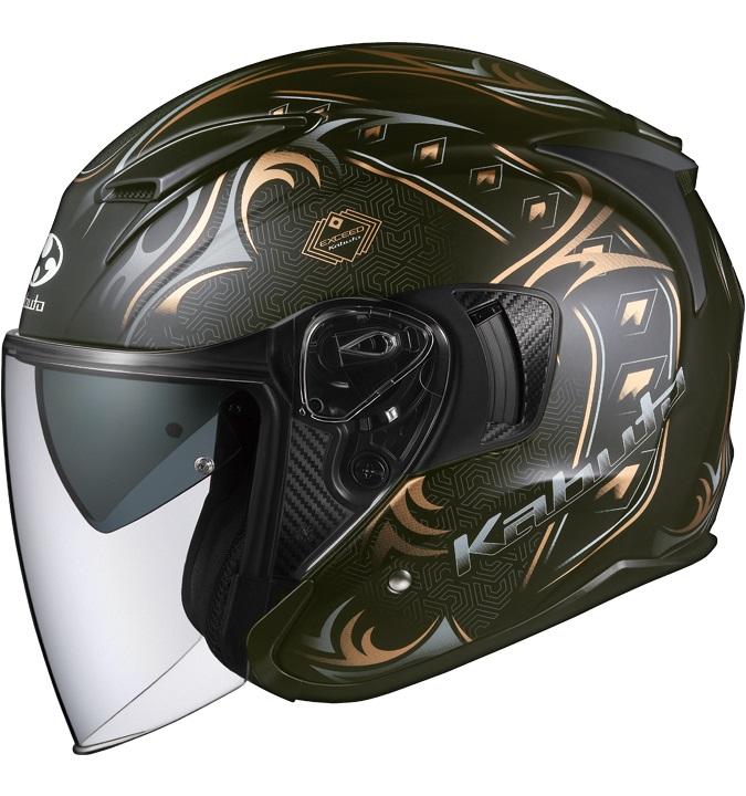 【在庫あり】OGK KABUTO オージーケーカブト EXCEED SWORD [エクシード・ソード フラット ブラック ゴールド] ヘルメット