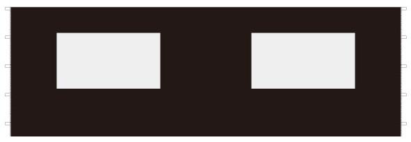 Unit ユニット キャノピー専用サイドパネル ウインドウ 6m×2m