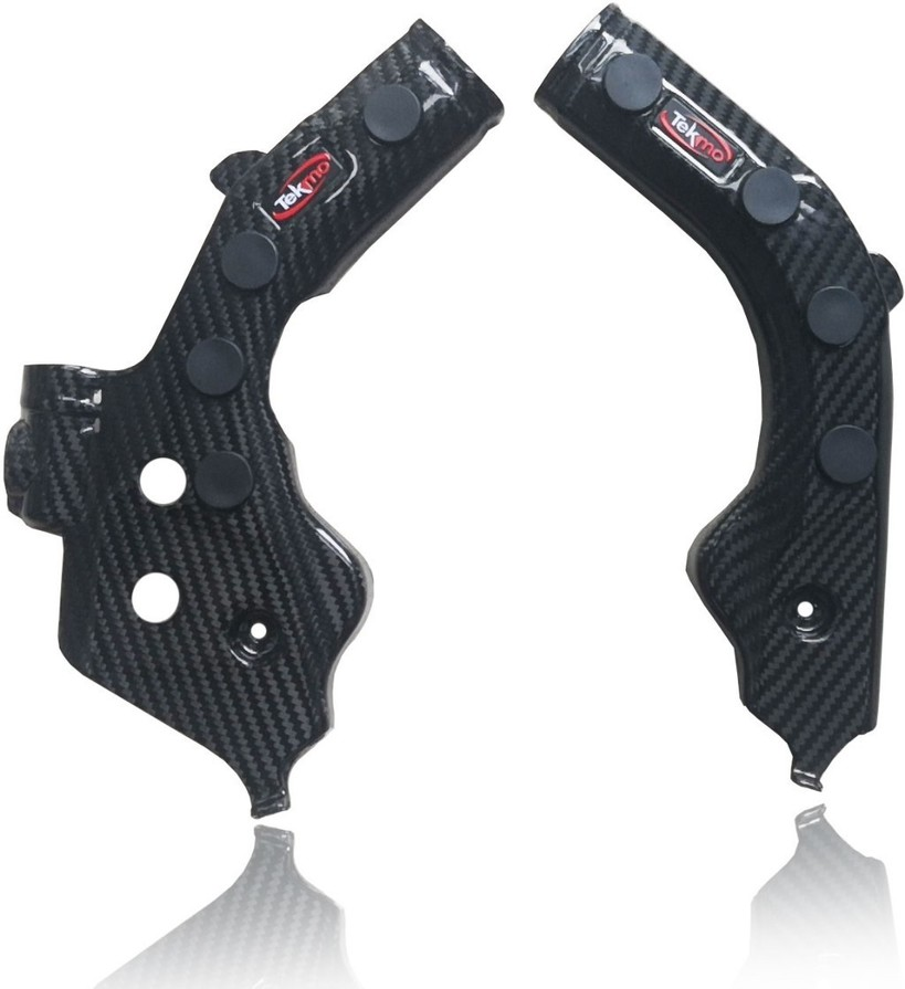 Tekmo Racing テクモレーシング カーボンフレームガード 滑り止めラバー付き FC250 FC350 FC450 FE250 FE350 FE450 FE501 FS450 FX350 FX450 TC125 TC250 TE150i TE250i TE300i TX300