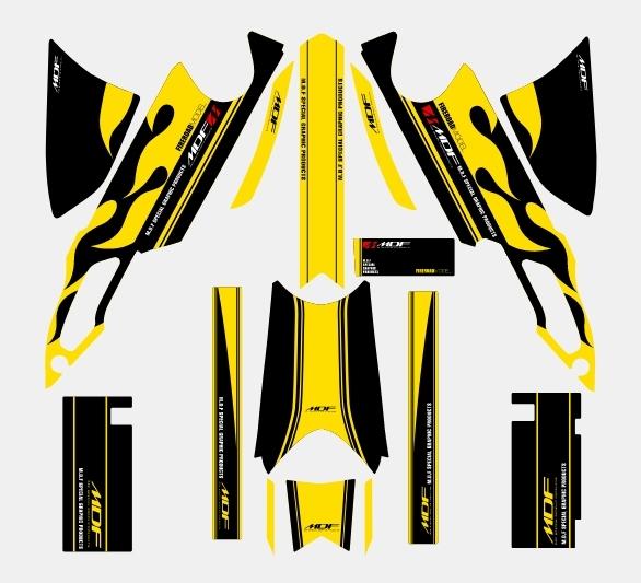 【ポイント5倍開催中!!】【クーポンが使える!】 MDF エムディーエフ ステッカー・デカール 専用グラフィックキット TRICKER ファイアロードモデル タイプ:コンプリートセット TRICKER
