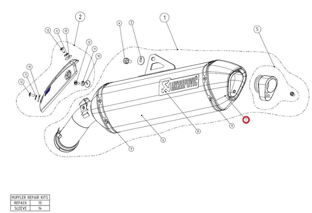 AKRAPOVICアクラポビッチ マフラーエンドキャップ リペアパーツ V-EC183 end cap 新作 ADVENTURE ca 商い R1200GS AKRAPOVIC アクラポビッチ