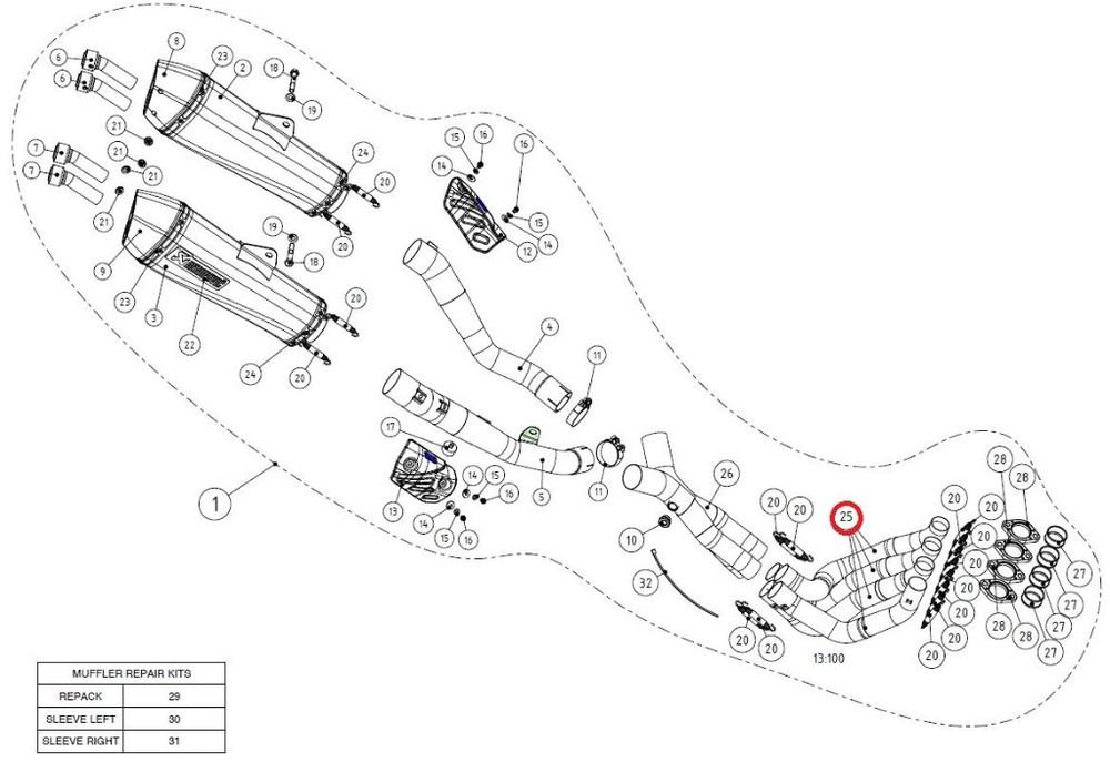 ファッションデザイナー AKRAPOVIC SS アクラポビッチ【リペアパーツ header】H-K14R2 header (ZX-14) SS ZZR1400 (ZX-14), パートナーズ:4e849850 --- inglin-transporte.ch