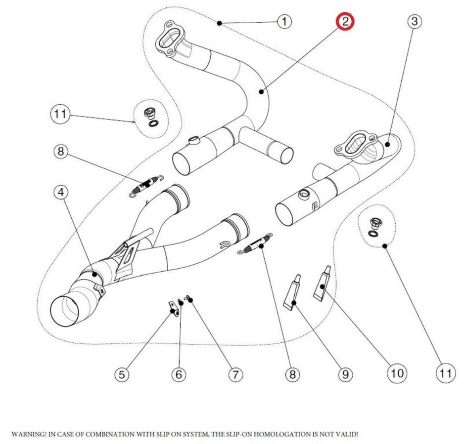 AKRAPOVIC アクラポビッチ その他マフラーパーツ 【リペアパーツ】H-B12E5L header l ti R1200GS R1200GS ADVENTURE R1200R R1200RS