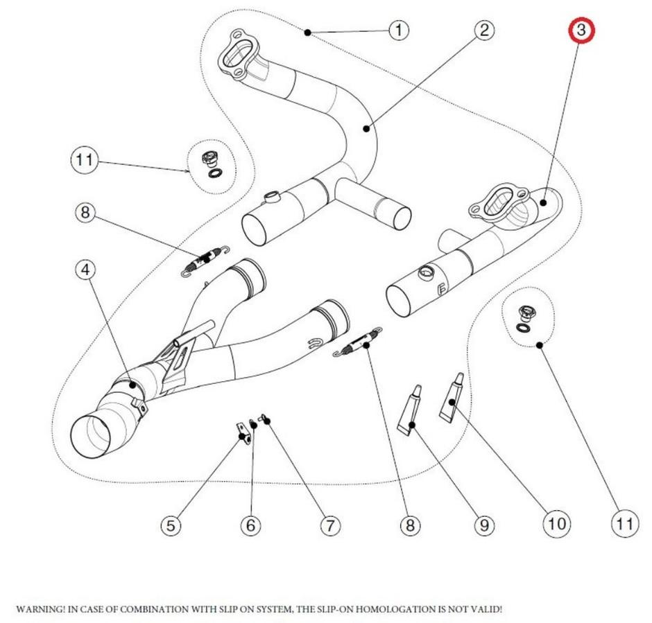 AKRAPOVIC アクラポビッチ その他マフラーパーツ 【リペアパーツ】H-B12E5R header r ti R1200GS R1200GS ADVENTURE R1200R R1200RS