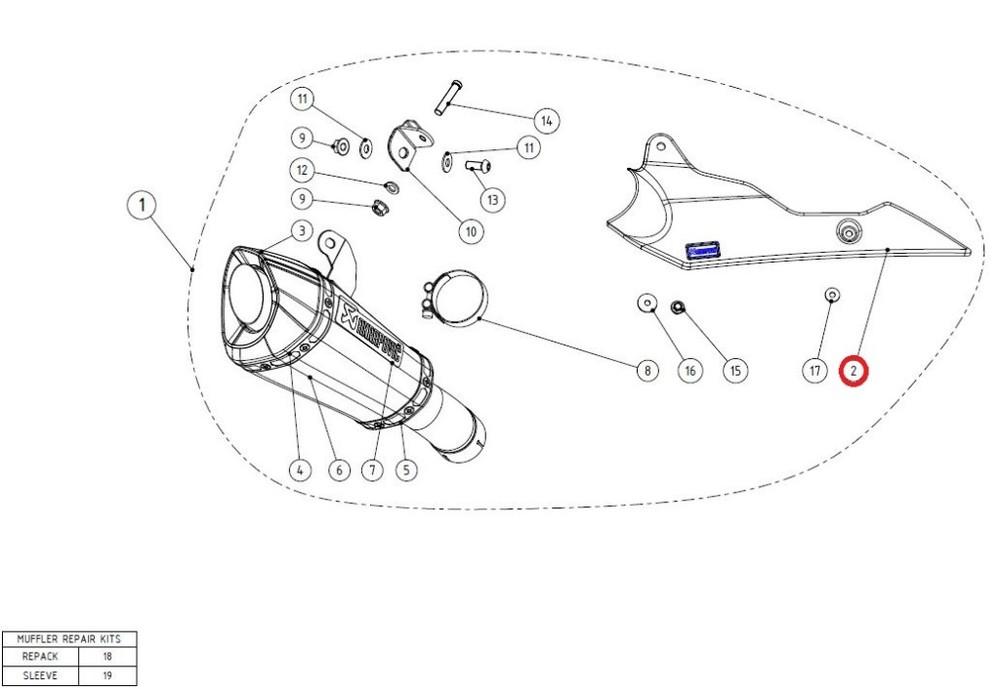 AKRAPOVIC アクラポビッチ その他マフラーパーツ 【リペアパーツ】P-HSS10E1 heat shield ca GSX-S1000 GSX-S1000F