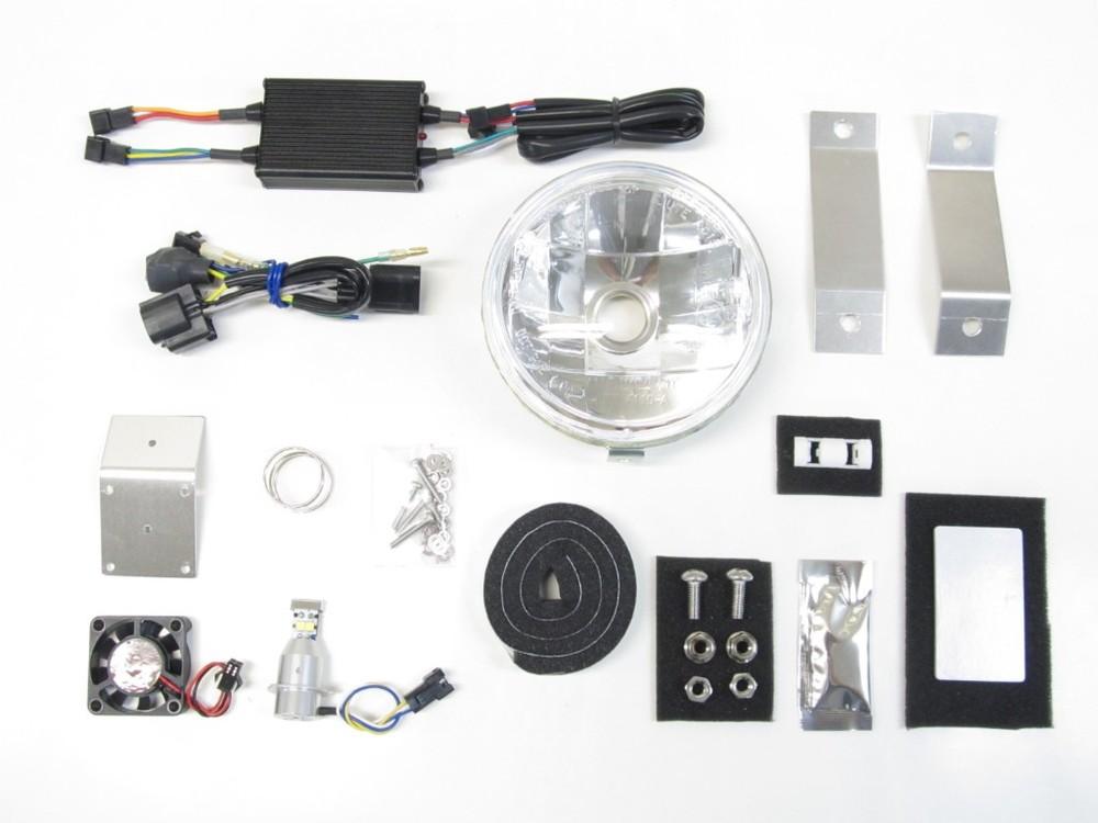 PROTEC プロテック ヘッドライト本体・ライトリム/ケース LEDマルチリフレクターヘッドライト 色温度:3000k スーパーカブC125