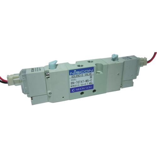 TRUSCO トラスコ中山 工業用品 日本精器 4方向電磁弁M5ダブルAC100V7GT