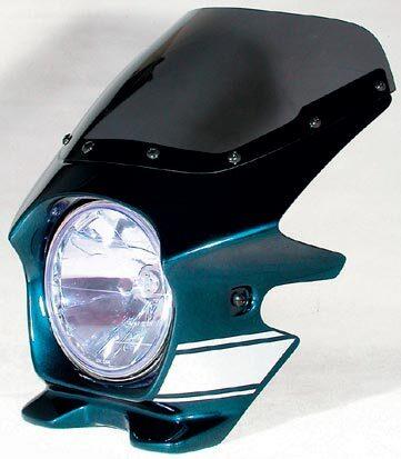 N PROJECT Nプロジェクト エヌプロジェクト ビキニカウル・バイザー ブラスターII エアロスクリーン カラー:メタリックオーシャンブルー(ストライプ/複色仕上げ) グラフィック:ファイヤーバード(22223) ゼファー750 ゼファーX