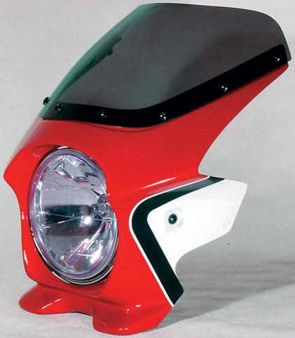 N PROJECT Nプロジェクト エヌプロジェクト ビキニカウル・バイザー ブラスターII エアロスクリーン カラー:キャンディブレイジングレッド(ツートン/複色仕上げ) グラフィック:ファイヤーバード(22223) CB400スーパーフォア