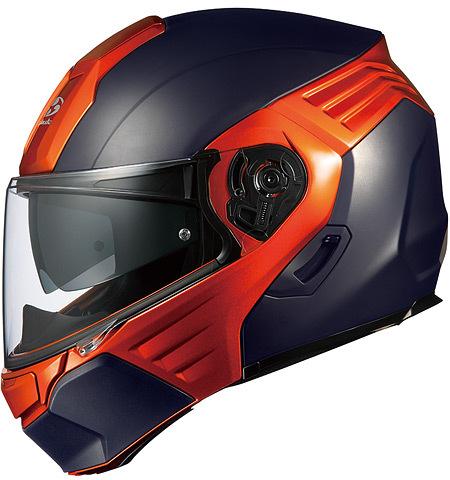 OGK KABUTO オージーケーカブト システムヘルメット KAZAMI [カザミ フラットブラック/オレンジ] ヘルメット サイズ:XL