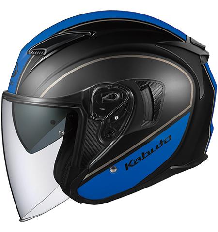 【在庫あり】OGK KABUTO オージーケーカブト ジェットヘルメット EXCEED DELIE [エクシード デリエ フラットブラックブルー] ヘルメット サイズ:M