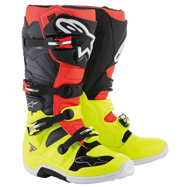 Alpinestars Tech 7 Motocross Off-Road Motorcycle Boots Black//White Mens Size 12