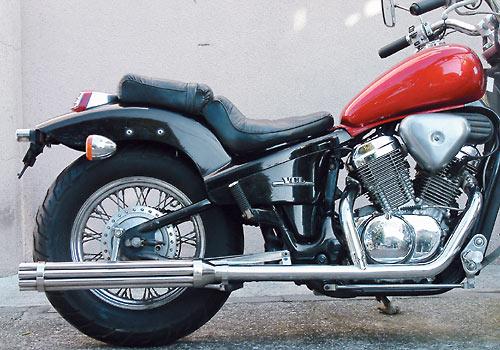 EASYRIDERS イージーライダース フルエキゾーストマフラー FLHスタイル2in1マシンガンマフラー スティード400 スティード400 VSE