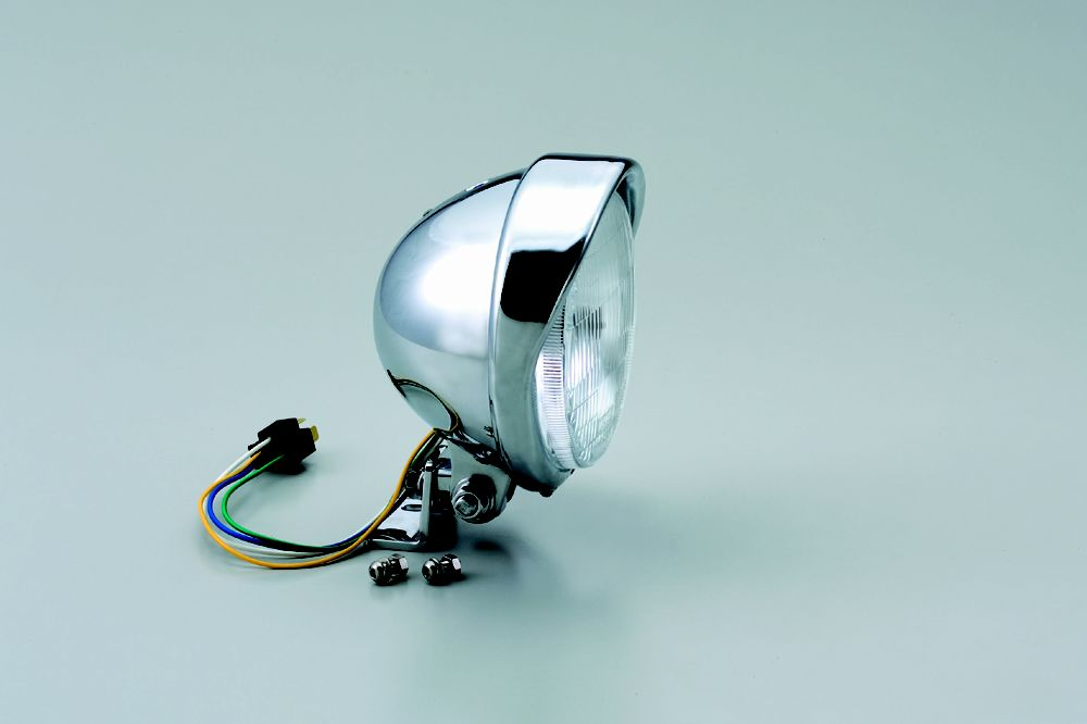 HURRICANE ハリケーン ヘッドライト本体・ライトリム/ケース 5.5ベーツバイザータイプヘッドライトキット RV200 バンバン グラストラッカー グラストラッカー ビッグボーイ