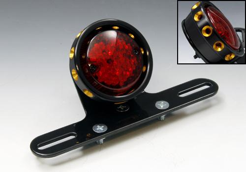 EASYRIDERS イージーライダース テールランプ LEDドリルドテールライト ブラック/ゴールドカバー