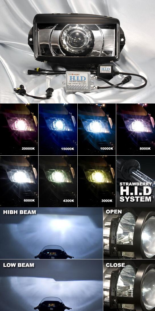 STRAWBERRY ストロベリー HIDプロジェクターヘッドライト FUSION [フュージョン]