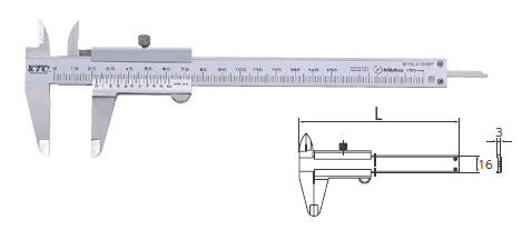 KTC ケイティーシー ノギス 測定範囲:0-150mm