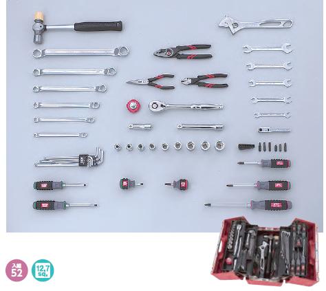 KTC ケイティーシー 12.7sq. 工具セット 両開きプラハードケース