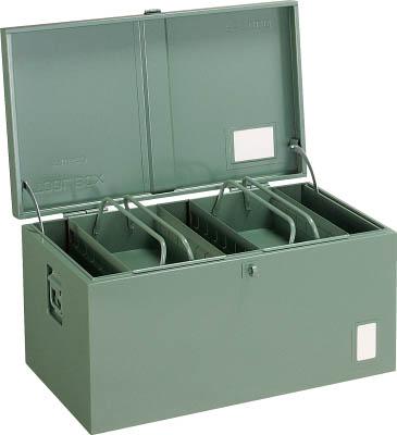 トラスコ中山 工業用品 TRUSCO 中型車載用工具箱 中皿付 700X420X370
