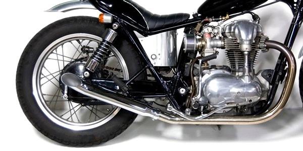 Motor Rock モーターロック フルエキゾーストマフラー ターンアウトマフラー フルエキ タイプ:MID W400 W650