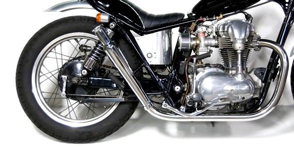 Motor Rock モーターロック フルエキゾーストマフラー トランペットマフラー/ストレート フルエキ タイプ:HIGH W400 W650