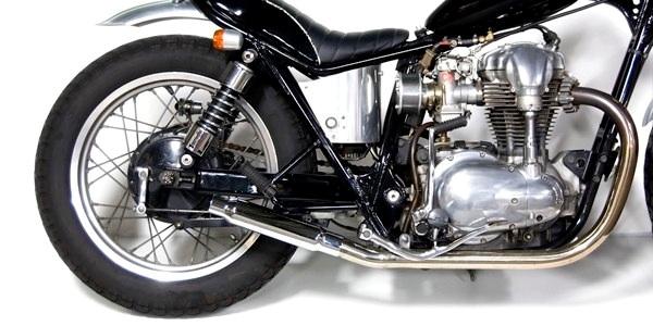 Motor Rock モーターロック フルエキゾーストマフラー ショーティーマフラー フルエキ タイプ:MID W400 W650
