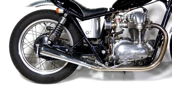 Motor Rock モーターロック フルエキゾーストマフラー オーバルマフラー フルエキ タイプ:MID W400 W650