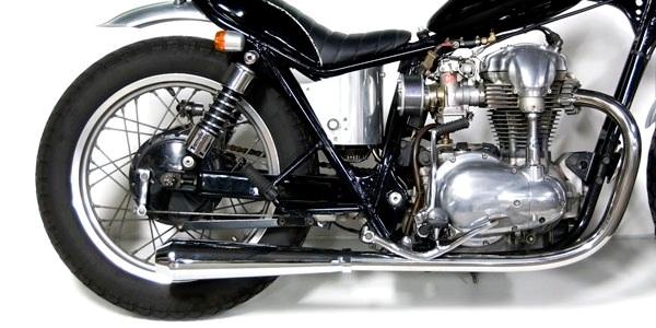 Motor Rock モーターロック フルエキゾーストマフラー メガホンマフラー フルエキ タイプ:LOW W400 W650