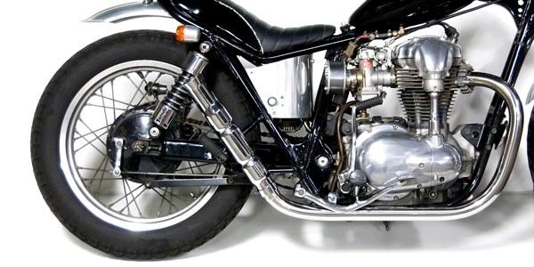 Motor Rock モーターロック フルエキゾーストマフラー バンブーマフラー フルエキ タイプ:HIGH W400 W650
