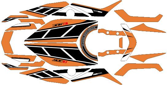 MDF エムディーエフ ステッカー・デカール 車種別グラフィックデカールキット MT09 ストロボ タイプ:コンプリート(フルセット) MT-09