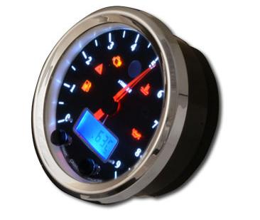 ACEWELL エースウェル スピードメーター 多機能デジタルメーター 回転数:6000rpm/カラー:ブラックパネル