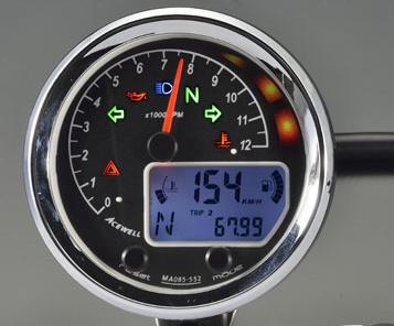 【在庫あり】ACEWELL エースウェル スピードメーター 多機能デジタルメーター 回転数:12000rpm
