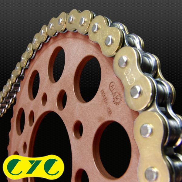 CYCチェーン CYC CHAIN 530-120L カラーシールチェーン【スタンダードカラー】(ゴールド) CBF1000 YZF-R1