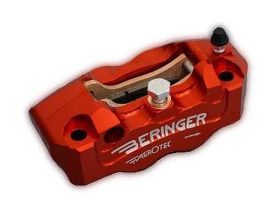 BERINGER ベルリンガー 4Pラジアルキャリパー 右用 レッド CBR1000RR(04-14) GSX1300R HAYABUSA[ハヤブサ](08-14) MT-09(13-14) ZZR1400 [ZX-14](06-14)
