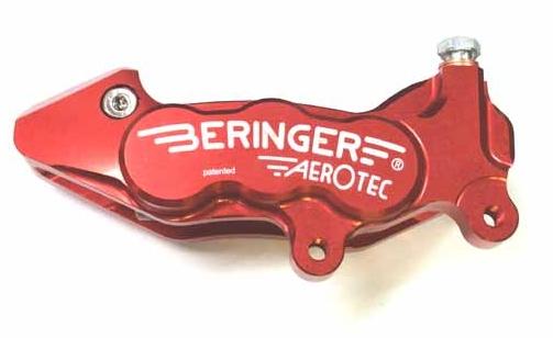 BERINGER ベルリンガー 6Pアキシャルキャリパー 右用 レッド T-MAX V-MAX (1200) XVS1100(VP10J)[ドラッグスター]