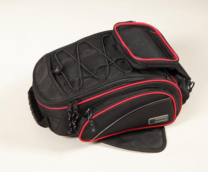 DEGNER デグナー マグネット式タンクバッグ カラー:ブラック/レッドパイピング