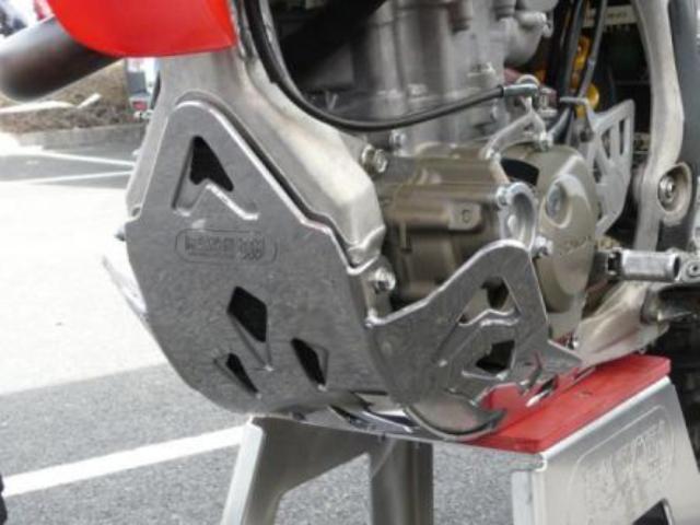 MECASYSTEM メカシステム ガード・スライダー スキッドプレート CRE-F450R 07-08 : CRF-F450R 07-08