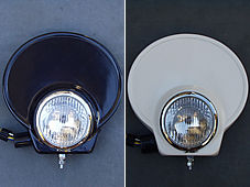 OSCAR オスカー ヘッドライト本体・ライトリム/ケース ライトカバーセット4.5 タイプB 黒ゲル