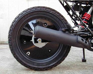 OSCAR オスカー ホイール関連パーツ FTR用 リアホイールキャップ 黒ゲル FTR223