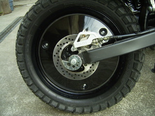 OSCAR オスカー ホイール関連パーツ リアホイールキャップ 黒ゲル XG250 TRICKER [トリッカー]